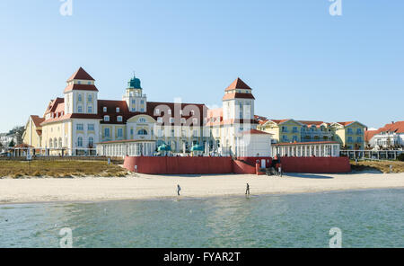 Spa resort in Binz with square, gazebo and pavilion at the Baltic Sea - Stock Photo