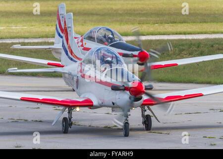 Krila oluje Wings of storm aerobatic group Croatia Croatian HRZ i PZO Zemunik - Stock Photo