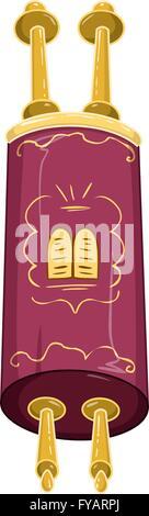 Vector illustration of the Jewish Torah closed. - Stock Photo