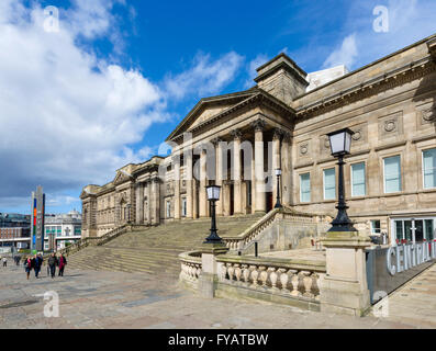 The Central Library and World Museum, William Brown Street, Liverpool, England, UK - Stock Photo