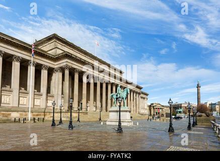 St George's Hall, Lime Street, Liverpool, Merseyside, England, UK - Stock Photo