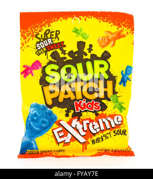 Winneconni, WI - 16 June 2015:  Bag of Sour Patch kids extreme - Stock Photo