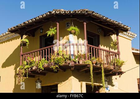 Colorful colonial Houses, Trinidad, Sancti Spiritus Province, Cuba - Stock Photo