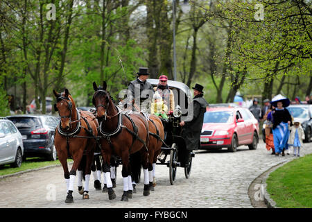 Poland. 24th April, 2016. Racing, horse, Partynice Wroclaw, Poland, Open Season 2016, wroclaw, dolnoslaskie, partynice, - Stock Photo