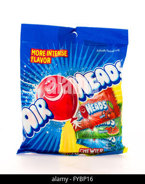 Winneconni, WI - 16 June 2015:  Bag of Air Heads fruit candy - Stock Photo