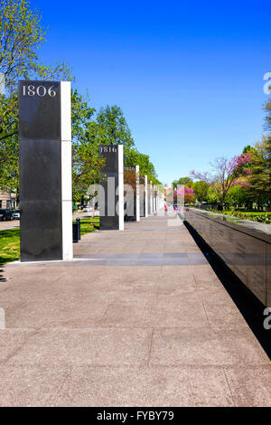 The walk of history in the Bicentennial Capitol Mall State Park in Nashville, TN - Stock Photo
