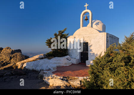 Small traditional church at sunset in Kos island, Greece - Stock Photo