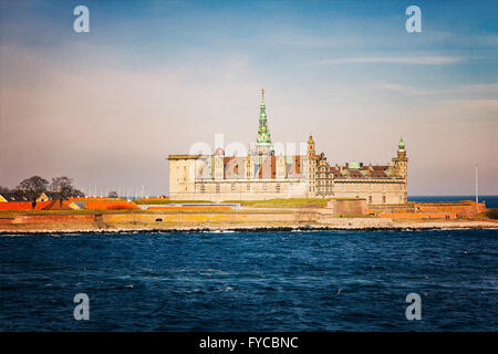 Image of Kronborg Castle in Helsingor, Denmark. - Stock Photo