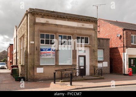 Former HSBC branch in Chirk North Wales opened in 1910 as a Midland Bank one of the last two rural bank branches - Stock Photo