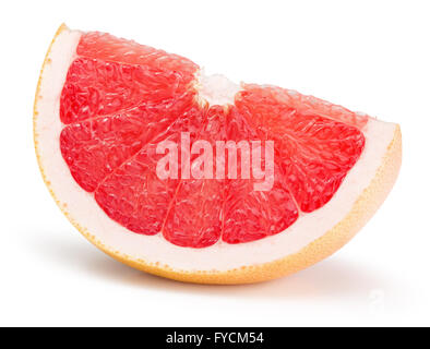 grapefruit slice isolated on the white background. - Stock Photo