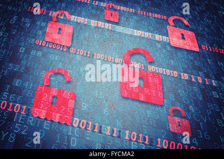 Security  padlock - Stock Photo