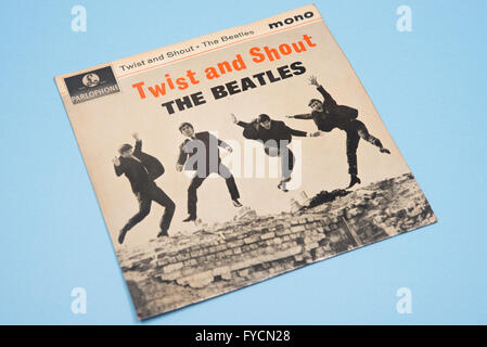 The Beatles EP, Twist and Shout from 1963 - Stock Photo