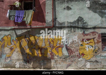 Abstract and weathered wall art around Old Havana featuring Stock ...