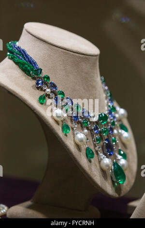 London, UK. 25 April 2016. Necklace from the collection of HSH Gabriela Princess zu Leiningen. On 18 May, Christie's - Stock Photo