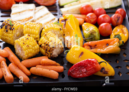 Grilled vegetables on a pan - Stock Photo