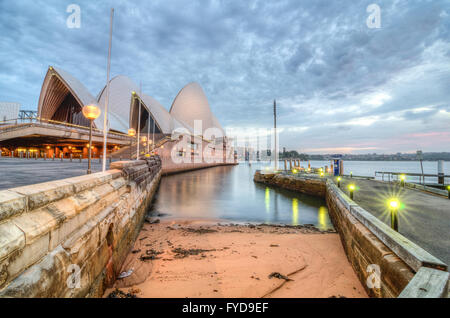 Dawn at Sydney Opera House - Stock Photo