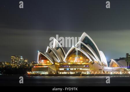 Sydney Opera House at Night - Stock Photo