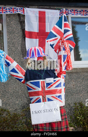 Wray, Lancashire, UK. 25th Apr, 2016. Wray's Annual Scarecrow Festival.  A 'straw poll' of visitors to Wray over - Stock Photo