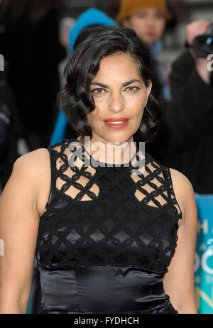 London, UK. 25th Apr, 2016. Sarita Choudhury attending the Premiere of  A HOLOGRAM FOR THE KING at the BFI Southbank - Stock Photo
