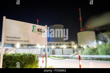 Gundremmingen, Germany. 25th Apr, 2016. The main entrance of the Gundremmingen nuclear power plant in Gundremmingen, - Stock Photo