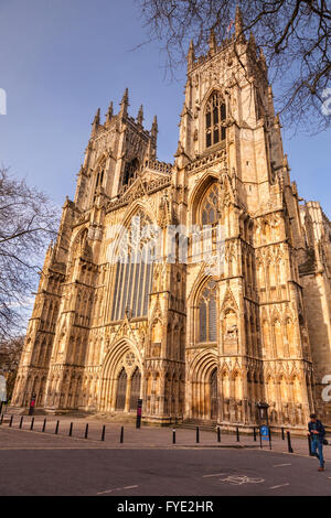 West facade of York Minster, York, North Yorkshire, England, UK - Stock Photo