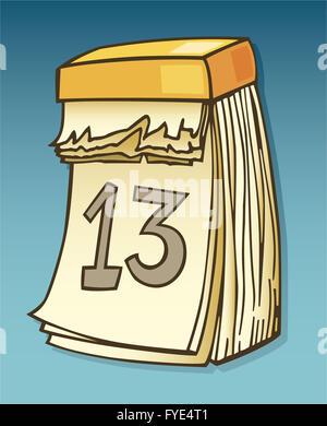Thirteenth on calendar - Stock Photo