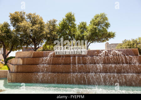 Fort Worth Water Gardens In Downtown Fort Worth Texas Stock Photo Royalty Free Image 52330726