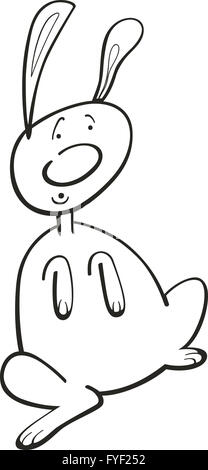 Rabbit for coloring book - Stock Photo