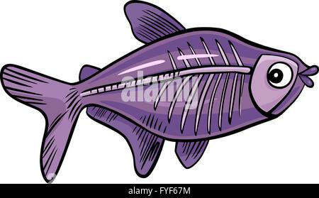 cartoon x-ray fish - Stock Photo