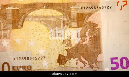50 Euro-Scheine - Symbolbild Geld. - Stock Photo