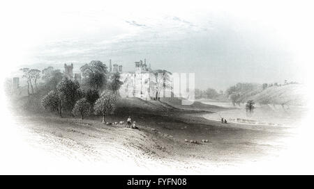 Linlithgow Palace, town of Linlithgow, West Lothian, Scotland, 17th century - Stock Photo
