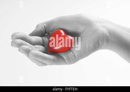Heart in hand conceptual image. Love - Stock Photo