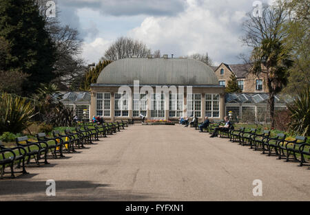 Editorial image of Paxton's Pavilion - Glasshouse in the grounds of the Botanical Gardens in Sheffield South Yorkshire. - Stock Photo