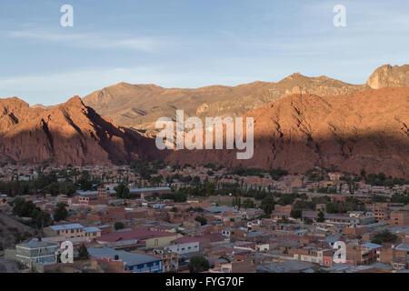 Tupiza, Bolivia - November 04, 2015: View over the city of Tupiza - Stock Photo