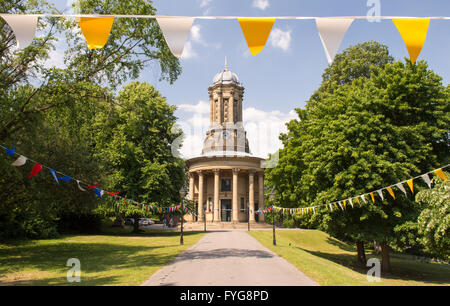 The United Reformed Church at Saltaire, the Victorian industrial new town in West Yorkshire. - Stock Photo
