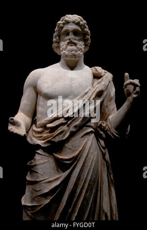 Ancient Greek statue of Asclepios (the greek God of medicine). Also known as Esculapio, which is the roman name.