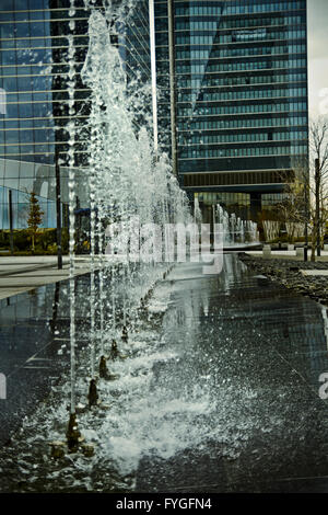 water jets, office building source - Stock Photo