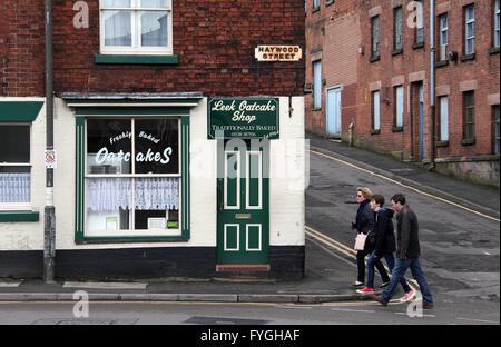 Traditional Staffordshire Oatcake Shop in Leek - Stock Photo