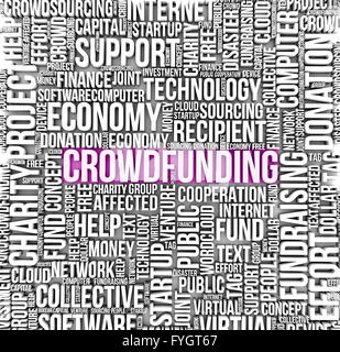 crowdfunding concept: text on a cloud - Stock Photo