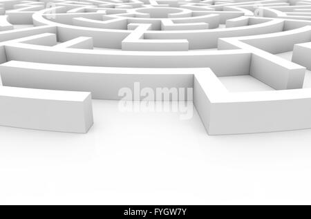 difficulty concept: labyrinth render - Stock Photo