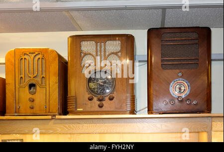 3 old radio receivers from 1930es - Stock Photo