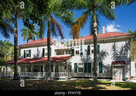 'Seminole Lodge' - winter home of inventor Thomas Edison, Ft Myers, Florida, USA - Stock Photo
