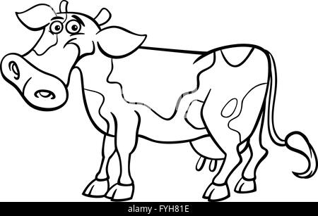 farm cow cartoon for coloring book Stock Photo: 103001305 - Alamy