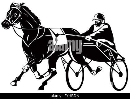 Horse And Jockey Harness Racing Stock Photo 277549853