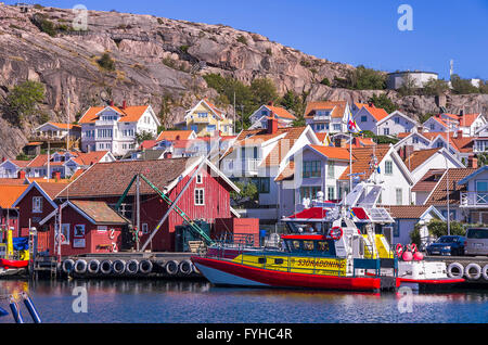 The fishing village of Fjallbacka in Bohuslan county, Sweden. - Stock Photo