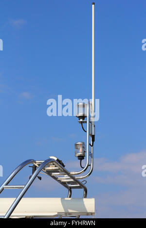 Navigation equipment on luxury boat in the sky - Stock Photo