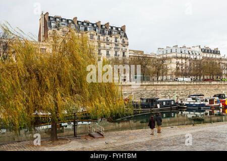 France paris bastille the port of arsenal stock photo - Port de l arsenal paris ...