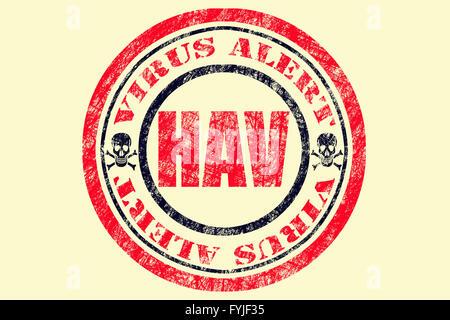 HAV Virus Alert Concept - Stock Photo