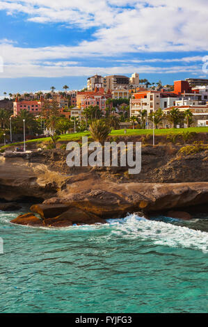 Beach Las Americas in Tenerife island - Canary - Stock Photo