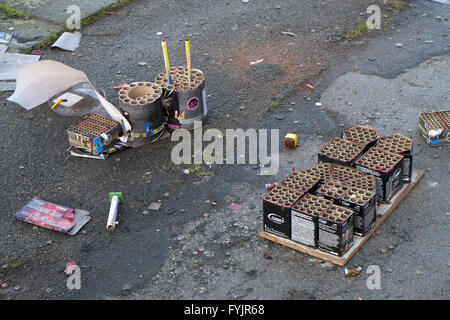 Burned Fireworks - Stock Photo